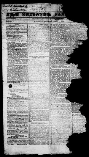 Primary view of object titled 'The National Vindicator. (Washington, Tex.), Vol. 1, No. 51, Ed. 1, Saturday, August 17, 1844'.