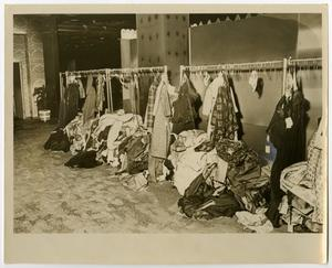 Primary view of object titled '[Fire-Damaged Clothes at Neiman-Marcus]'.