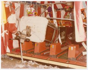 Primary view of object titled '[Sky Tram Car Inside of a Fair Games Booth]'.