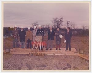 Primary view of object titled '[Oak Cliff Chamber of Commerce Breaks Ground]'.