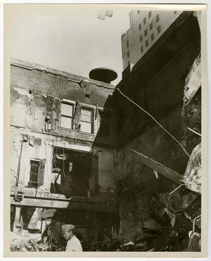 Primary view of object titled '[Burned Out Building Without a Roof]'.