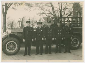 Primary view of object titled '[Firefighters at Station 6]'.