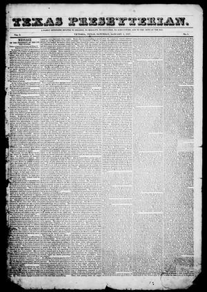 Texas Presbyterian. (Victoria, Tex.), Vol. 1, No. 1, Ed. 1, Saturday, January 2, 1847