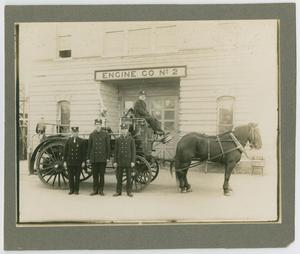 Primary view of object titled '[Dallas Engine Co #2 and Firefighters]'.