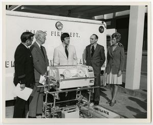 Primary view of object titled '[Presentation of Transportable Incubator]'.