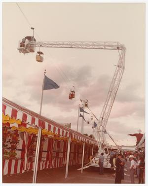 Primary view of object titled '[Aerial Lift Crane at State Fair of Texas]'.