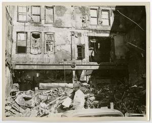 Primary view of object titled '[Inside a Fire Damaged Multi-Story Building]'.