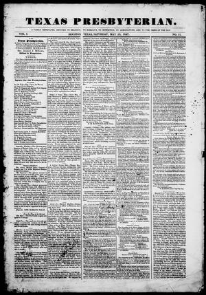 Texas Presbyterian. (Houston, Tex.), Vol. 1, No. 11, Ed. 1, Saturday, May 29, 1847