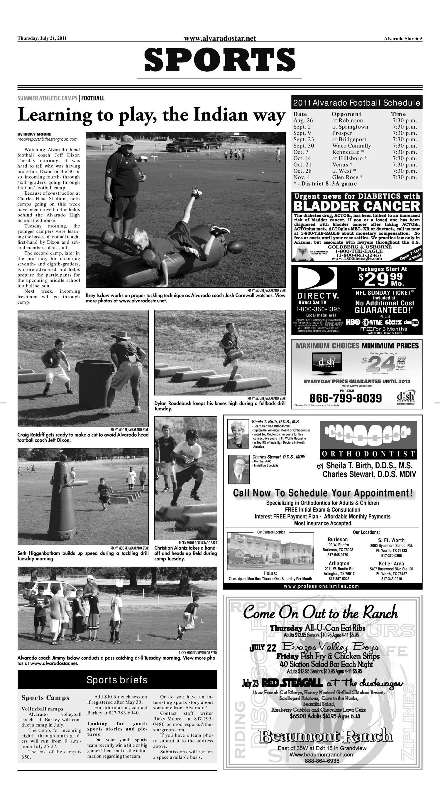 Alvarado Star Tex Vol 15 No 45 Ed 1 Thursday July 21 2011