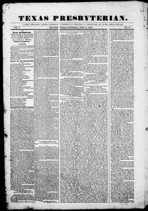 Texas Presbyterian. (Houston, Tex.), Vol. 1, No. 12, Ed. 1, Saturday, June 5, 1847