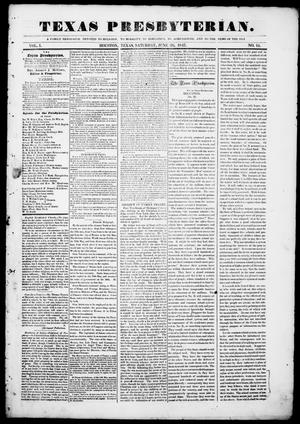 Primary view of object titled 'Texas Presbyterian. (Houston, Tex.), Vol. 1, No. 15, Ed. 1, Saturday, June 26, 1847'.