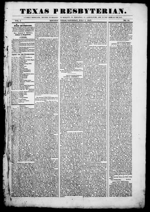 Texas Presbyterian. (Houston, Tex.), Vol. 1, No. 16, Ed. 1, Saturday, July 3, 1847