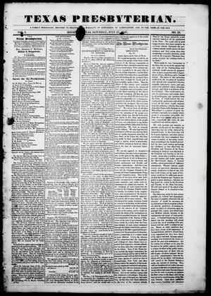 Primary view of object titled 'Texas Presbyterian. (Houston, Tex.), Vol. 1, No. 18, Ed. 1, Saturday, July 17, 1847'.