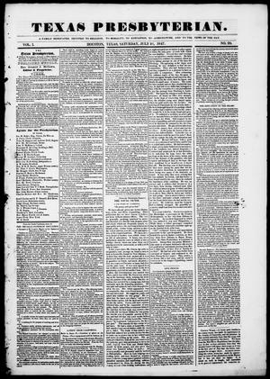 Texas Presbyterian. (Houston, Tex.), Vol. 1, No. 20, Ed. 1, Saturday, July 31, 1847