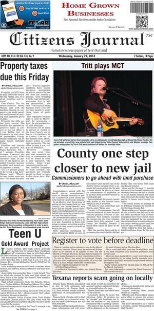 Citizens Journal (Atlanta, Tex.), Vol. 135, No. 9, Ed. 1 Wednesday, January 29, 2014