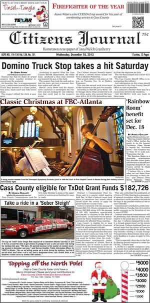 Citizens Journal (Atlanta, Tex.), Vol. 134, No. 101, Ed. 1 Wednesday, December 18, 2013