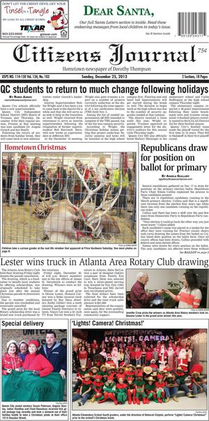 Citizens Journal (Atlanta, Tex.), Vol. 134, No. 103, Ed. 1 Wednesday, December 25, 2013