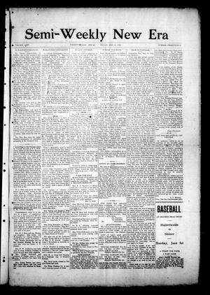 Semi-Weekly New Era (Hallettsville, Tex.), Vol. 25, No. 25, Ed. 1 Friday, May 30, 1913
