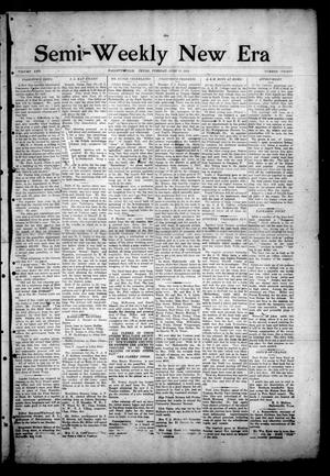 Primary view of object titled 'Semi-Weekly New Era (Hallettsville, Tex.), Vol. 25, No. 30, Ed. 1 Tuesday, June 17, 1913'.
