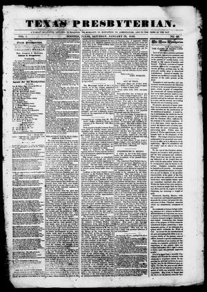 Primary view of object titled 'Texas Presbyterian. (Houston, Tex.), Vol. 1, No. 46, Ed. 1, Saturday, January 29, 1848'.