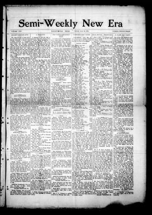 Primary view of object titled 'Semi-Weekly New Era (Hallettsville, Tex.), Vol. 25, No. 23, Ed. 1 Friday, May 23, 1913'.