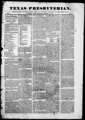 Primary view of Texas Presbyterian. (Houston, Tex.), Vol. 1, No. 52, Ed. 1, Saturday, March 11, 1848