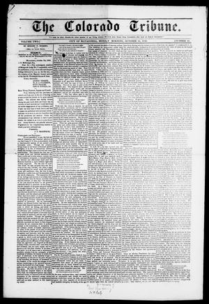 Primary view of object titled 'The Colorado Tribune. (Matagorda, Tex.), Vol. 2, No. 49, Ed. 1, Monday, October 15, 1849'.