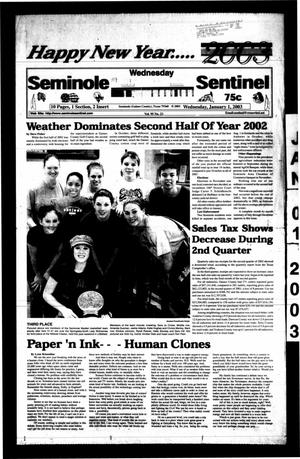 Primary view of object titled 'Seminole Sentinel (Seminole, Tex.), Vol. 95, No. 23, Ed. 1 Wednesday, January 1, 2003'.