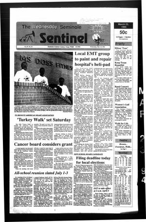 Primary view of object titled 'The Seminole Sentinel (Seminole, Tex.), Vol. 87, No. 43, Ed. 1 Wednesday, March 23, 1994'.