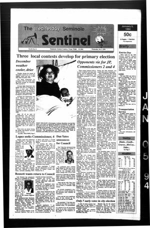 Primary view of object titled 'The Seminole Sentinel (Seminole, Tex.), Vol. 87, No. 21, Ed. 1 Wednesday, January 5, 1994'.
