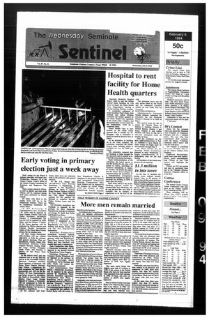 Primary view of object titled 'The Seminole Sentinel (Seminole, Tex.), Vol. 87, No. 31, Ed. 1 Wednesday, February 9, 1994'.