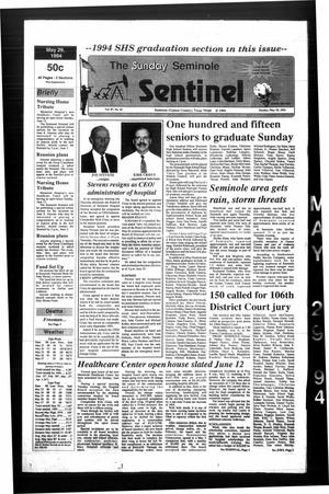 Primary view of object titled 'The Seminole Sentinel (Seminole, Tex.), Vol. 87, No. 62, Ed. 1 Sunday, May 29, 1994'.