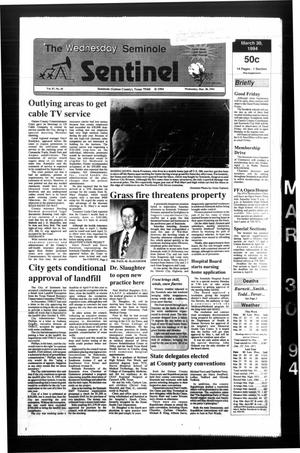 Primary view of object titled 'The Seminole Sentinel (Seminole, Tex.), Vol. 87, No. 45, Ed. 1 Wednesday, March 30, 1994'.
