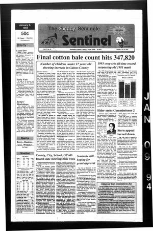 Primary view of object titled 'The Seminole Sentinel (Seminole, Tex.), Vol. 87, No. 22, Ed. 1 Sunday, January 9, 1994'.