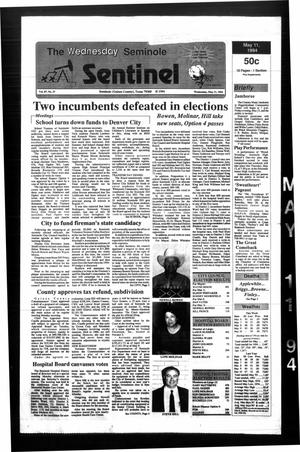 Primary view of object titled 'The Seminole Sentinel (Seminole, Tex.), Vol. 87, No. 57, Ed. 1 Wednesday, May 11, 1994'.