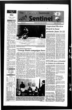 Primary view of object titled 'The Seminole Sentinel (Seminole, Tex.), Vol. 87, No. 68, Ed. 1 Sunday, June 19, 1994'.