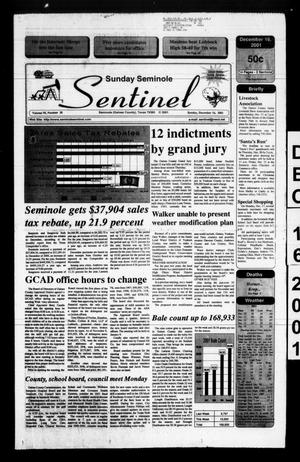 Primary view of object titled 'Seminole Sentinel (Seminole, Tex.), Vol. 95, No. 18, Ed. 1 Sunday, December 16, 2001'.