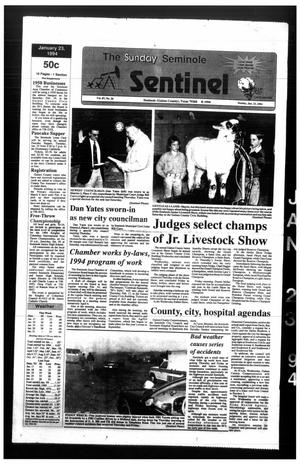 Primary view of object titled 'The Seminole Sentinel (Seminole, Tex.), Vol. 87, No. 26, Ed. 1 Sunday, January 23, 1994'.