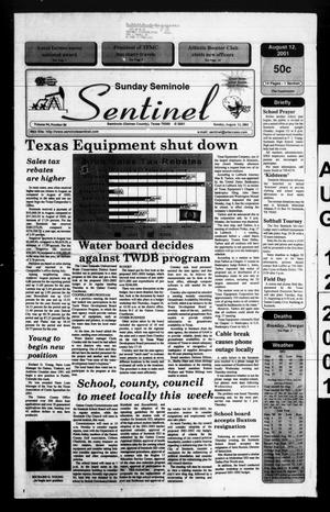 Primary view of object titled 'Seminole Sentinel (Seminole, Tex.), Vol. 94, No. 86, Ed. 1 Sunday, August 12, 2001'.