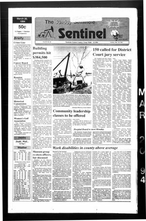Primary view of object titled 'The Seminole Sentinel (Seminole, Tex.), Vol. 87, No. 42, Ed. 1 Sunday, March 20, 1994'.