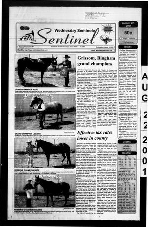 Primary view of object titled 'Seminole Sentinel (Seminole, Tex.), Vol. 94, No. 89, Ed. 1 Wednesday, August 22, 2001'.