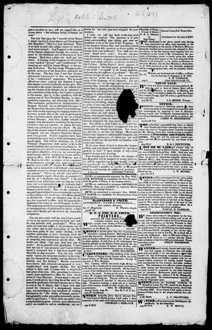 Primary view of object titled 'The Houstonian. (Houston, Tex.), Ed. 1, Monday, September 6, 1841'.