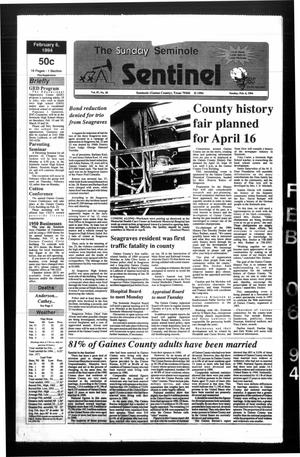 Primary view of object titled 'The Seminole Sentinel (Seminole, Tex.), Vol. 87, No. 30, Ed. 1 Sunday, February 6, 1994'.