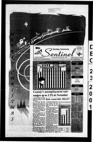 Primary view of object titled 'Seminole Sentinel (Seminole, Tex.), Vol. 95, No. 20, Ed. 1 Sunday, December 23, 2001'.
