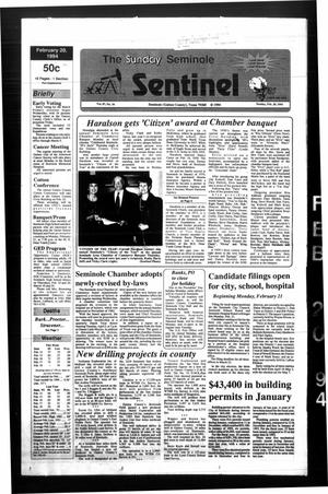Primary view of object titled 'The Seminole Sentinel (Seminole, Tex.), Vol. 87, No. 34, Ed. 1 Sunday, February 20, 1994'.