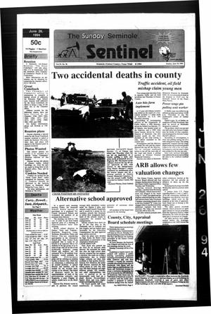 Primary view of object titled 'The Seminole Sentinel (Seminole, Tex.), Vol. 87, No. 70, Ed. 1 Sunday, June 26, 1994'.