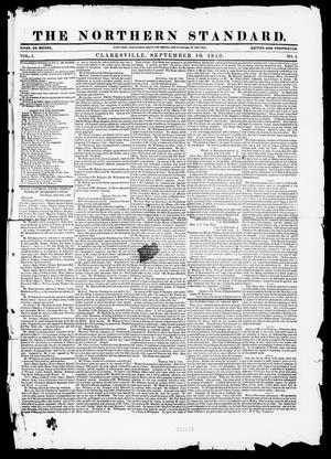 Primary view of object titled 'The Northern Standard. (Clarksville, Tex.), Vol. 1, No. 4, Ed. 1, Saturday, September 10, 1842'.