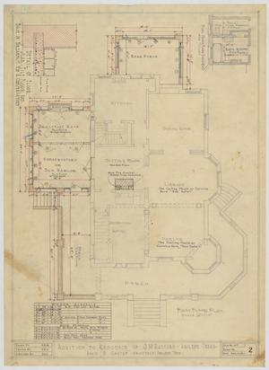 Primary view of object titled 'Radford Residence Addition, Abilene, Texas: First Floor'.