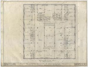 Primary view of object titled 'Hotel Building, Breckenridge, Texas: Mezzanine Mechanical Plan'.
