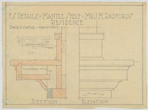 Primary view of object titled 'Radford Residence, Abilene, Texas: Mantle Shelf'.